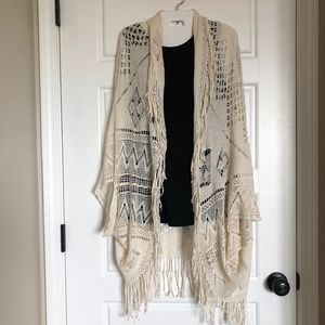 AEO Boho Crochet Lace Wrap